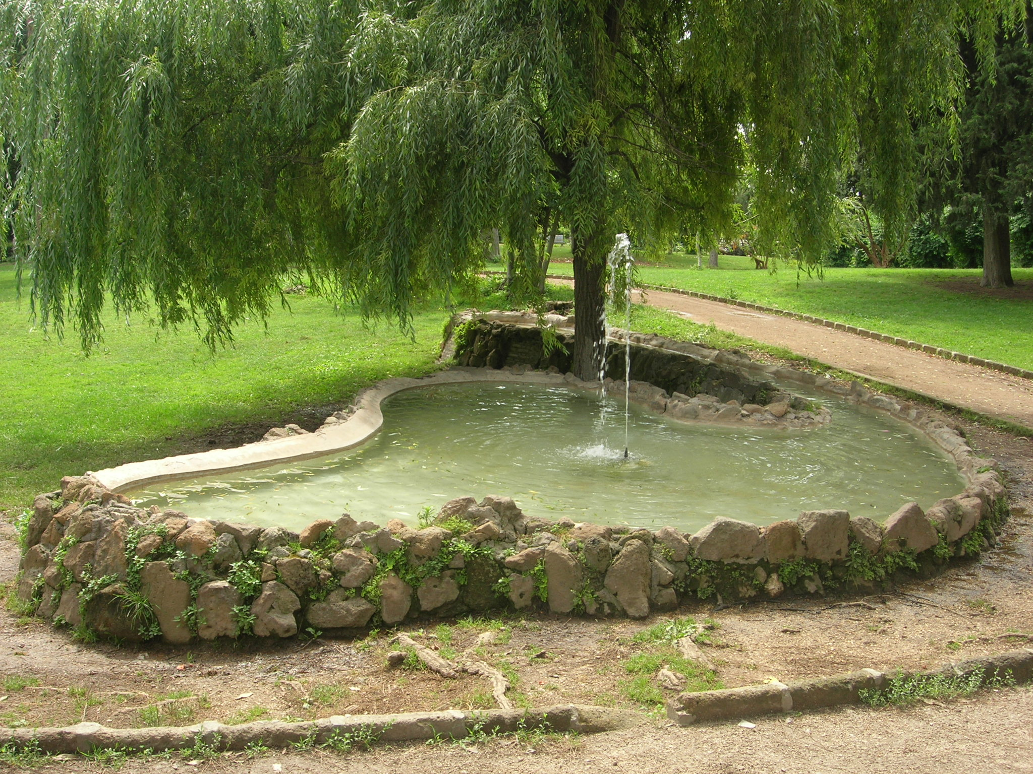 villa celimontana fontana a laghetto